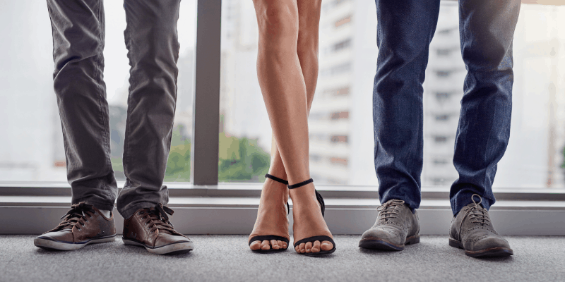 Three pairs of legs for my article on How to put your foot down in a relationship