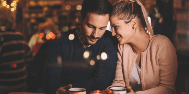 A couple on a date—For my article Is Dating a Thing of the Past