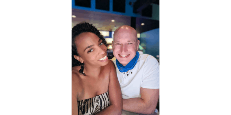 Picture of Author and his girlfriend for About Me page