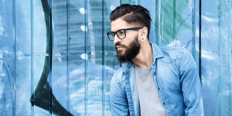 Bearded man in glasses looking to the side—How To Successfully Date a Separated Man