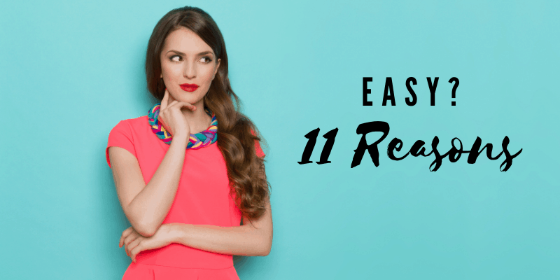 Woman being curious—11 Reasons Guys Think You're Eas