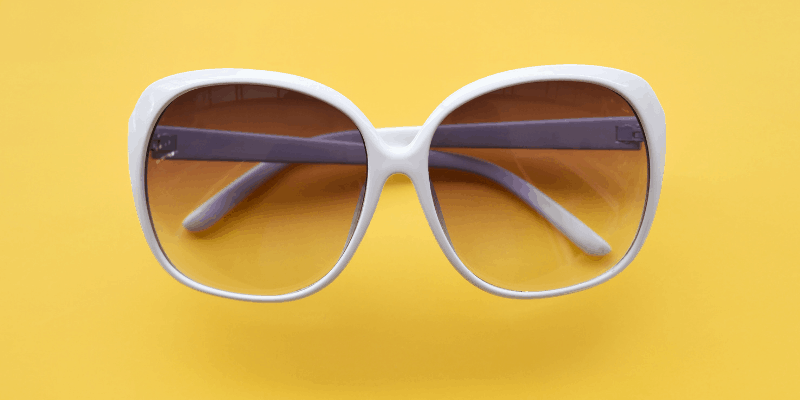 A pair of white sunglasses—What to Wear on a First Date to His House